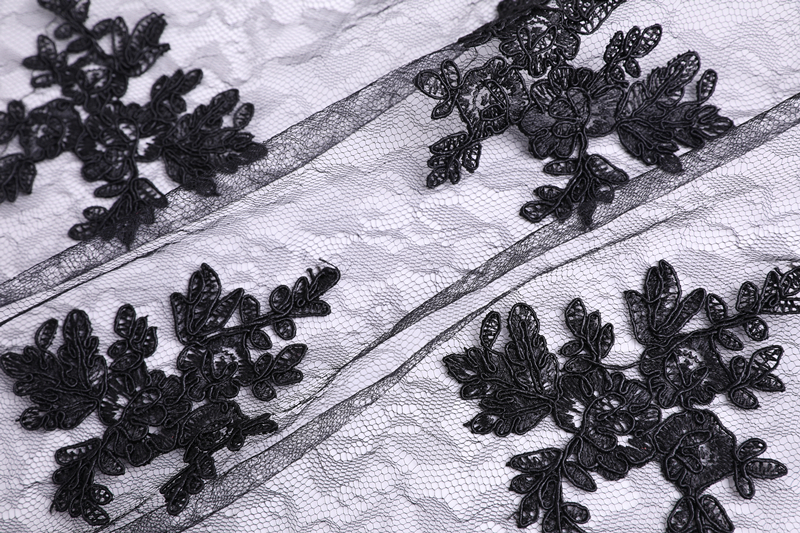Bridal Dress Cord Embroidery Fabric