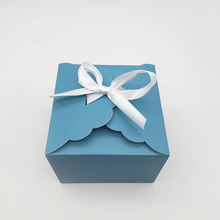 Folding Scalloped Edge Gift Box with Ribbon