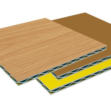 PVDF coating wood grain aluminum corrugated panel