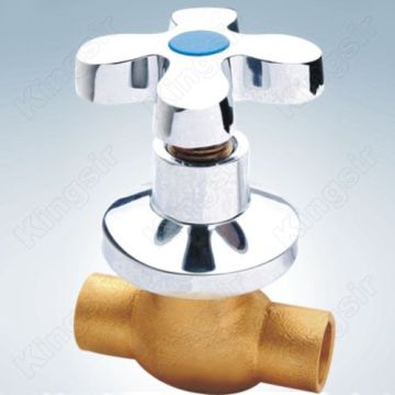 Brass Shower Valve With Zinc Flange