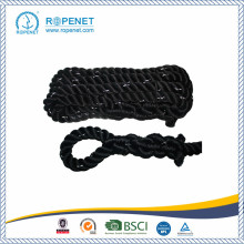 "China for  1.5"" Black Poly Dacron Climbing Rope supply to Morocco Factory"