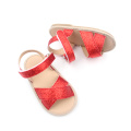 Red Kids Glitter Shoes Rubber Shoes Kids Sandal