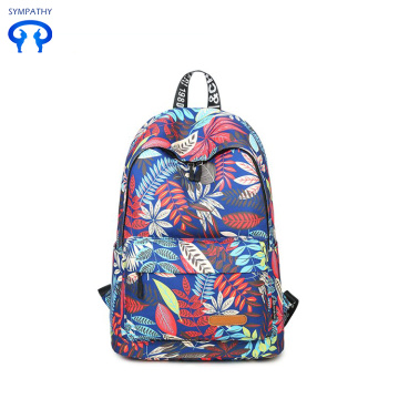 Printed backpack girl - style canvas school bag