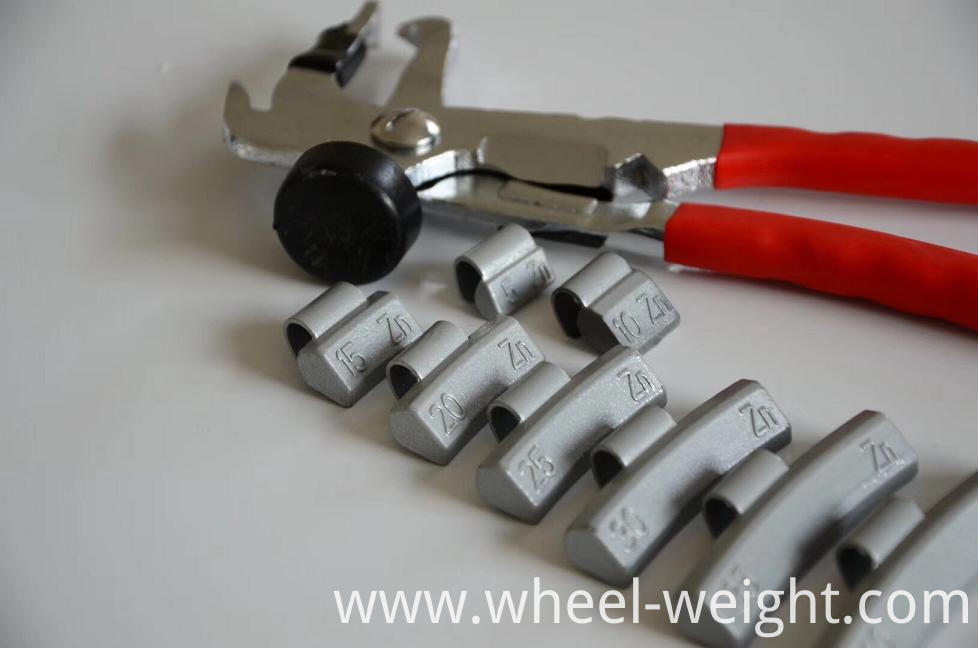Zn wheel weight for alloy