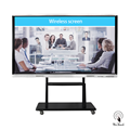 86 Inches All-In-One Display Whiteboard with mobile stand
