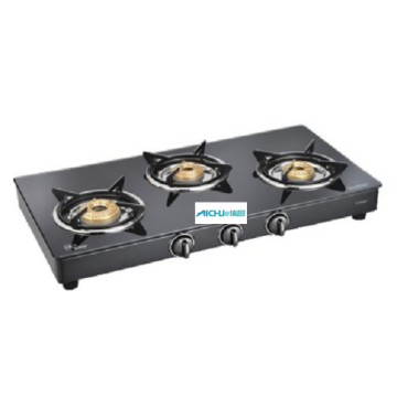 Classic Black Toughened Glass Top Gas Cooker