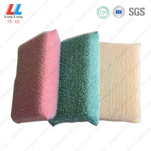 Delicate cleaning artificial silver sponge