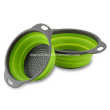 Kitchen Foldable Rubber Strainer