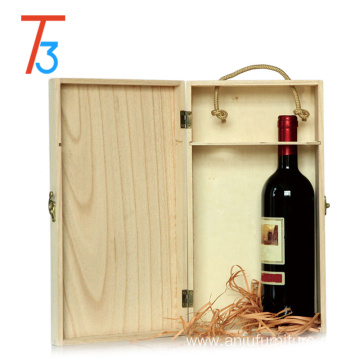 Quality storage box printing wood pine wine bottle box