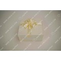 Light yellow ribbon bouquet gift box