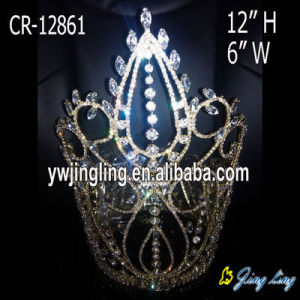 Large Rhinestone Full Round Pageant Crown