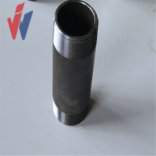 BSP NPT Galvanized threaded coupling parts pipe nipple
