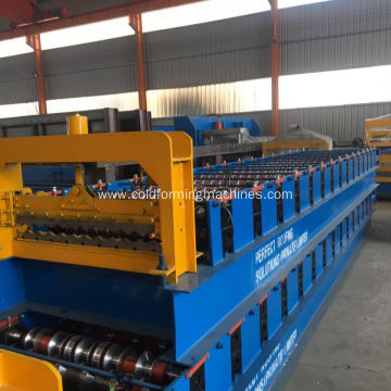 corrugated metal sheet roof panel forming machine