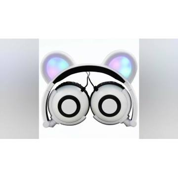 Original Factory LED Novelty Promotional Bear ear Headphones