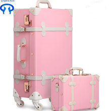 China New Product for PU Suitcase Universal wheel tidal wave luggage export to American Samoa Manufacturer