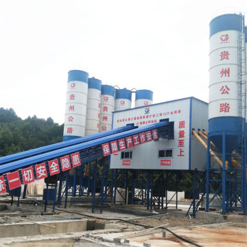Best selling new technology HZS90 concrete batching plant