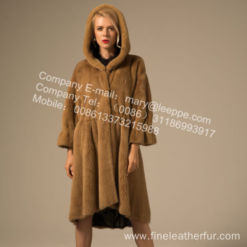 Winter Reversible Women Kopenhagen Mink Fur Overcoat