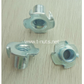 Plain Riveted Carbon Steel M6X16 T-nuts