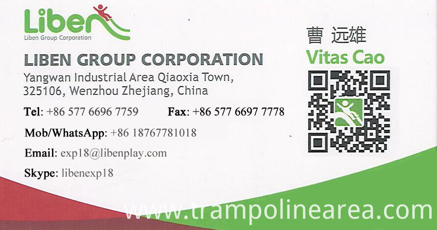contact of trampoline park with ninjia course