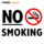 no smoking customized street signs