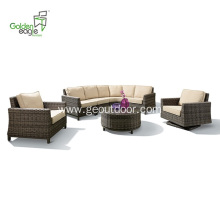 Aluminum yarad outdoor furniture wicker sofa