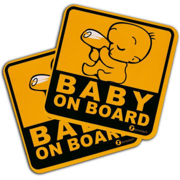 Magnet Custom Baby on board car sticker