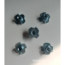 4 Prongs Carbon steel  ZP Tee Nuts