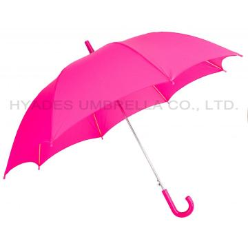 Pink Color Reflective Auto Open Kids Umbrella