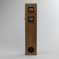 Long Pendulum Wooden Wall Flip Clock