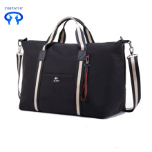 Fashionable simple stripe waterproof travel bag
