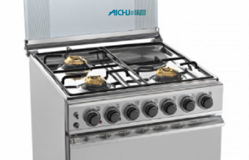 Sunflame Gas Oven 4 Brass Burner