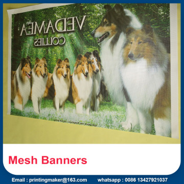 Outdoor Printed Mesh Banners On the Cheap
