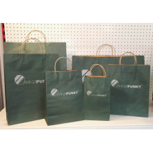 Free sample for Brown Kraft Paper Bag With Twist Handle Custom Kraft Paper Bag With Logo export to Christmas Island Supplier