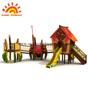 Wooden outdoor playground swing sets