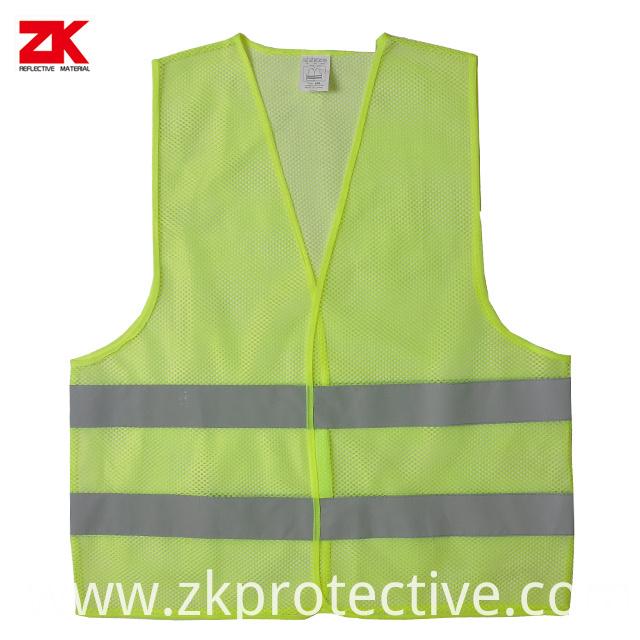 Mesh Yellow Safety Vest