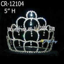 5 Inch Cheap Hair Jewelry Pageant Crown
