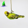 hanging bird glass Christmas ornament with low price