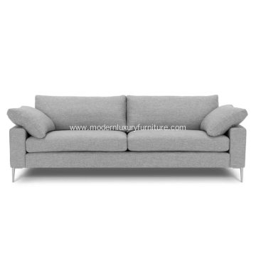 Nova Winter Gray Fabric Sofa