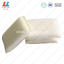 White charming kitchen cleaning silver sponge