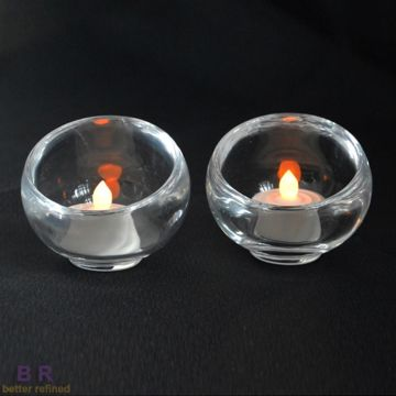 Glass Round Candle Stick