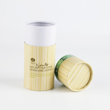 Custom Cardboard Cylinder Packaging Cosmetics Box With Lids