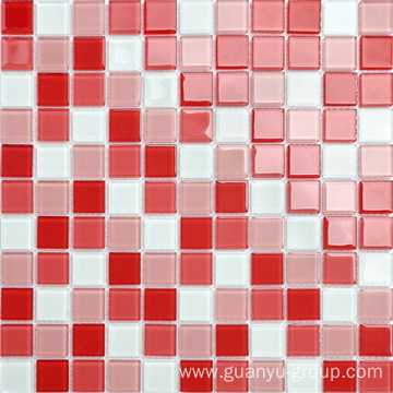Lovely pink color 4mm glass mosaic