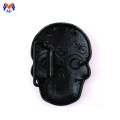 Metal skull mask belt buckle