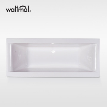Large Rectangular Acrylic Soaking Drop in Tub