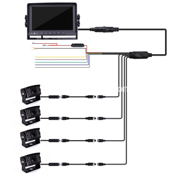 Комплект Quad Backup Camera Monitor
