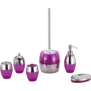 violet Bathroom Accessory Set