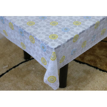 ireland Printed pvc lace tablecloth by roll
