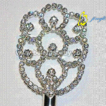 Silver Plated Pageant Scepter Match Crown Winner