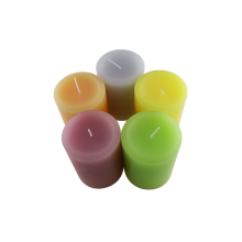 Paraffin color wedding pillar candle