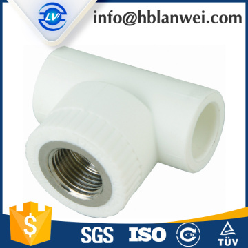 "Fast Delivery for PPR Pipe Fittings 1/2"" CHINA FACTORY TEES FEMALE THREADED PPR PIPE FITTINGS supply to Poland Factory"